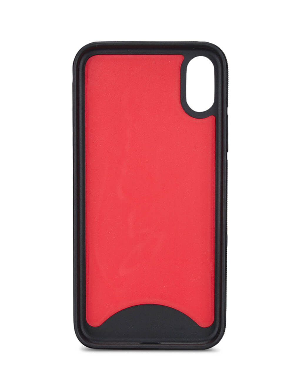 Men's Black and Red Christian Louboutin Loubiphone Sneakers Case for X/XS iPhone 1195360CM4H