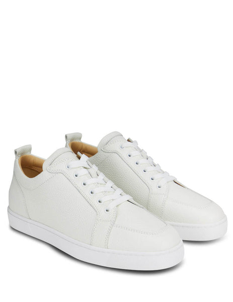 Men's White Christian Louboutin Rantulow Sneakers 1180255WHA8