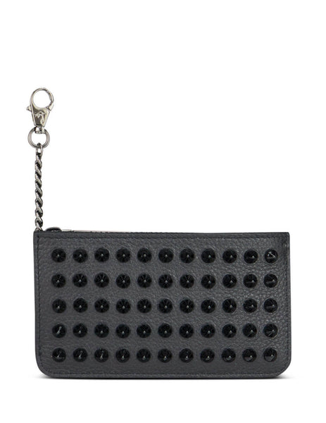 Christian Louboutin Spike Credilou Card Holder Black/Red 1195103cm53