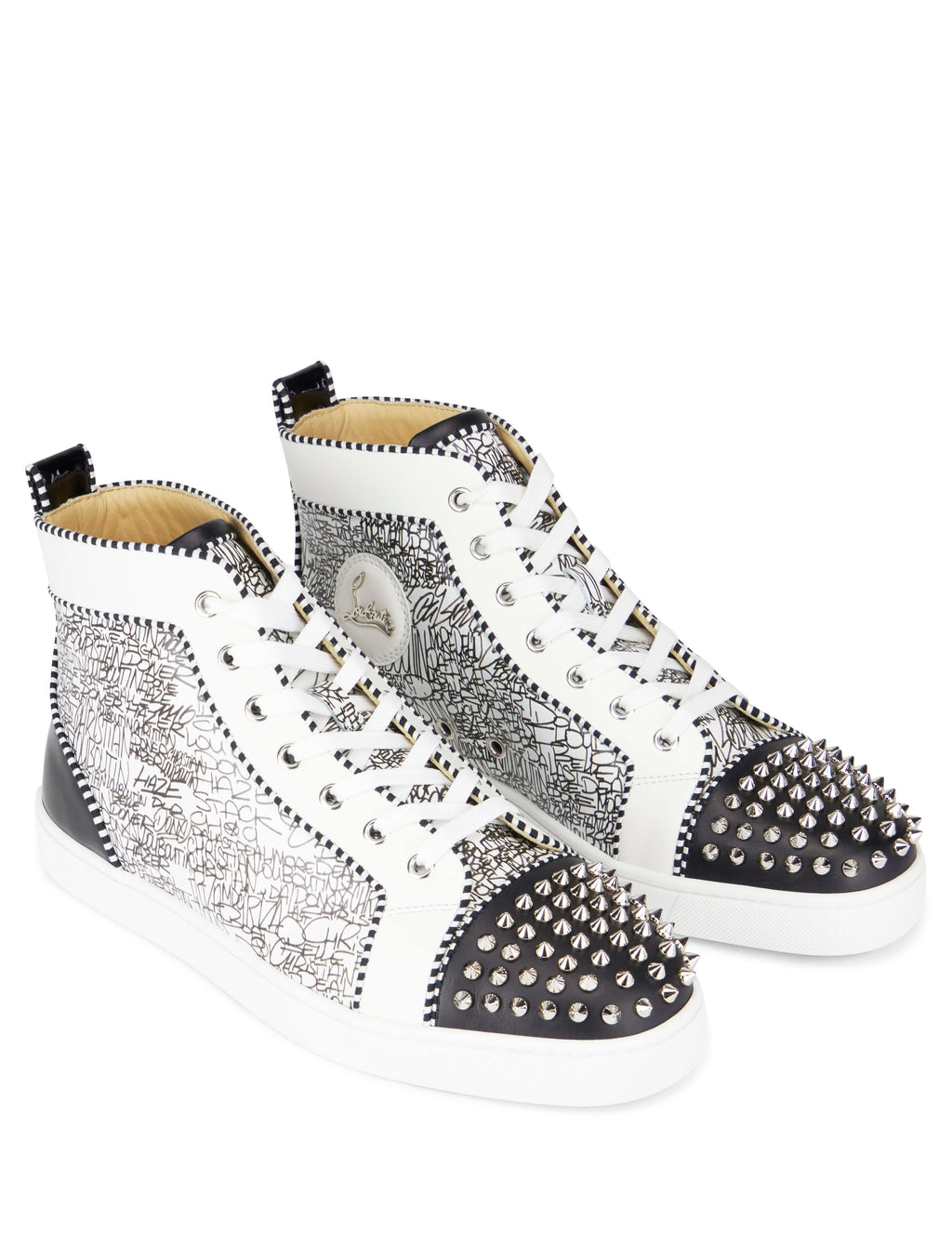 factory price cb5a9 aa173 Christian Louboutin Men's Lou Spikes Sneakers ...