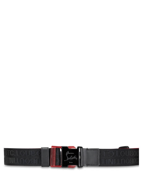 Christian Louboutin Men's Giulio Fashion Black Loubiclic Belt 3195243CM53