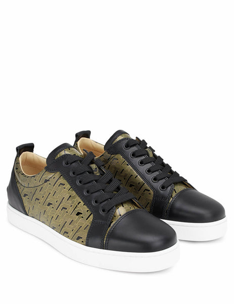 Christian Louboutin Men's Giulio Fashion Black Louis Junior Sneakers 1200141BKA9