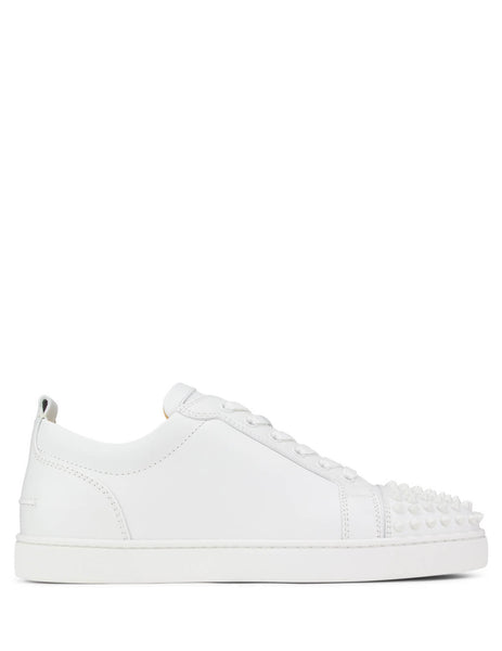 Christian Louboutin Men's Giulio Fashion White Louis Junior Spikes Sneakers 11305733047