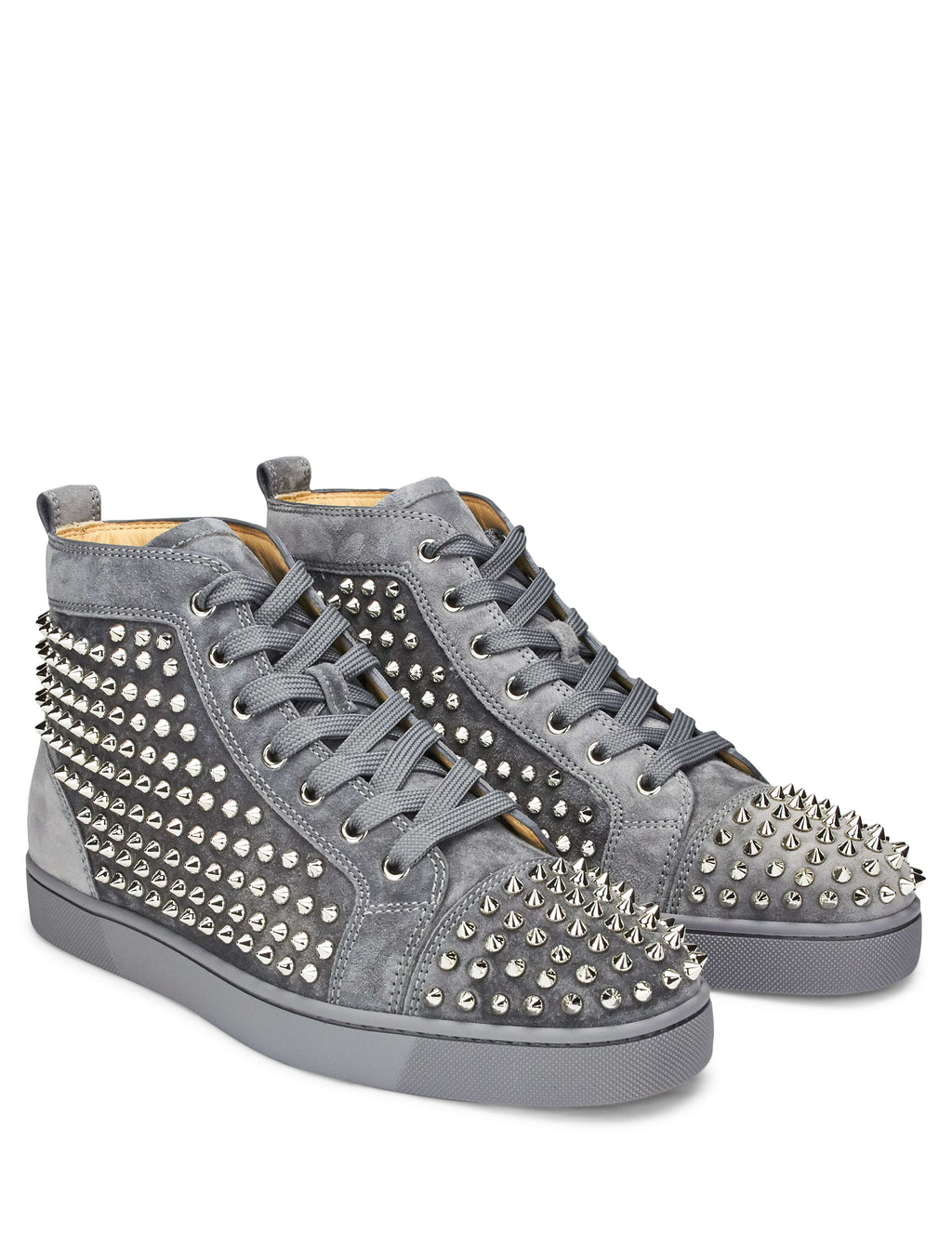 size 40 15f3e d51b6 Christian Louboutin Louis Spikes High-Top Sneakers ...