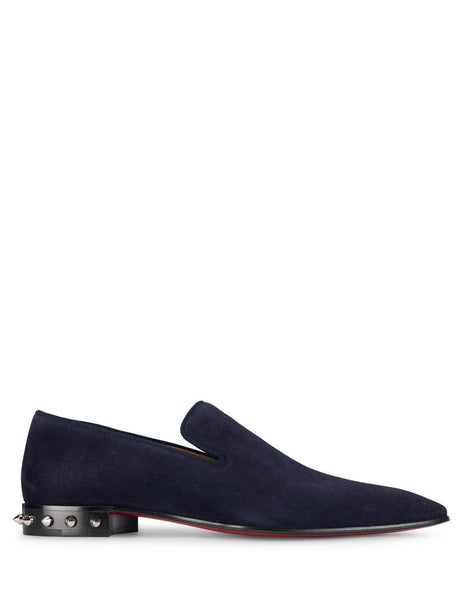 Christian Louboutin Men's Giulio Fashion Navy Marquees Loafers 3200538U086