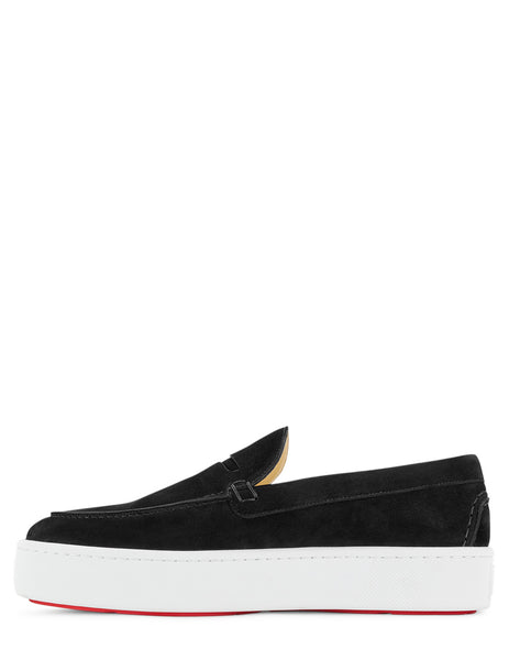 Christian Louboutin Men's Giulio Fashion Black Paqueboat Shoes 3190513BK01
