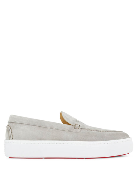 Christian Louboutin Men's Giulio Fashion Grey Paqueboat Shoes 3190513F160