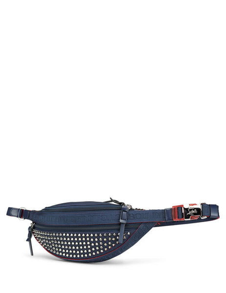 Christian Louboutin Men's Giulio Fashion Navy ParisNYC Belt Bag 3195322U626