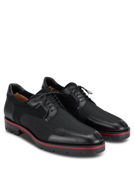 Christian Louboutin Men's Black Simon Derby Shoes 3201112BK01