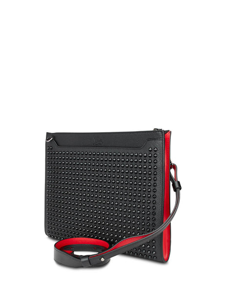 Christian Louboutin Men's Giulio Fashion Black Skypouch Clutch 1195055CM53