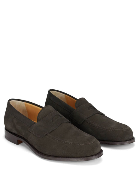 Church's Brown Dawley Suede Penny Loafers EDB101 9VR F0AAD