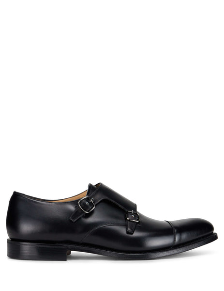 Church's Men's Giulio Fashion Black Detroit Monk Shoes EOB0159AFWF0AAB
