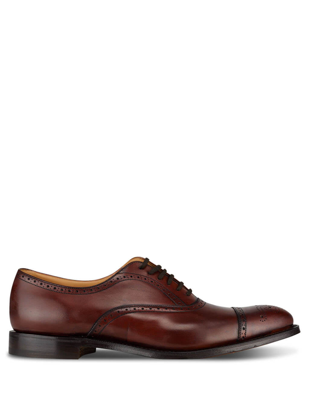 Men's Church's Toronto Oxford Shoes in Brandy Brown EEB027 9AFW F0AAC