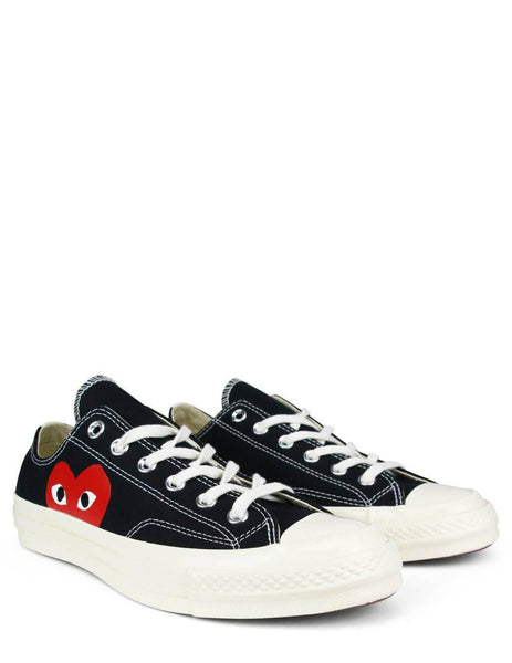 COMME des GARCONS PLAY x Converse Chuck Taylor All Star '70 Low Sneakers in Black/White - P1K111-1