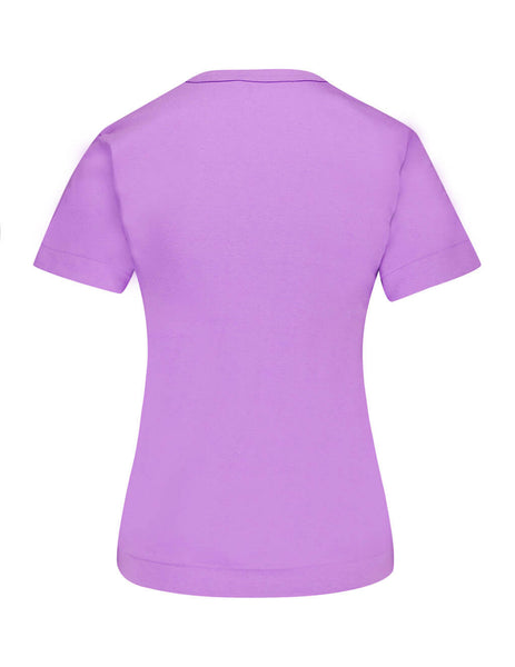 Women's Purple COMME des GARÇONS PLAY Red Heart T-Shirt P1T2114