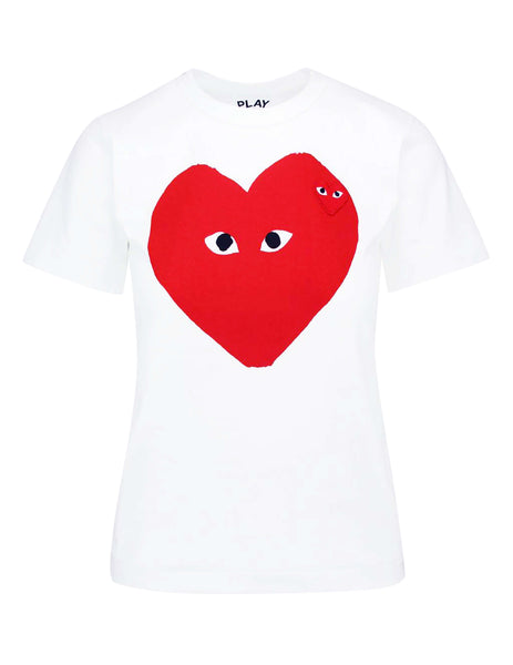 Red Heart Print & Patch T-Shirt