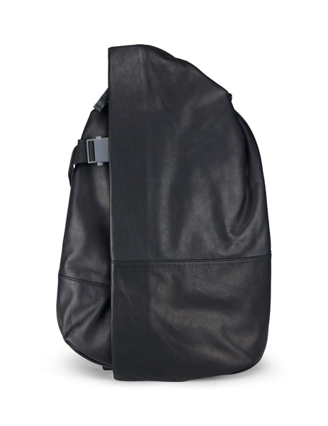 côte&ciel Men's Giulio Fashion Black Isar M Alias Leather Rucksack 28370