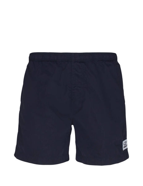 Men's Navy C.P. Company Boxer Swim Shorts 08CMBW217A000004G888
