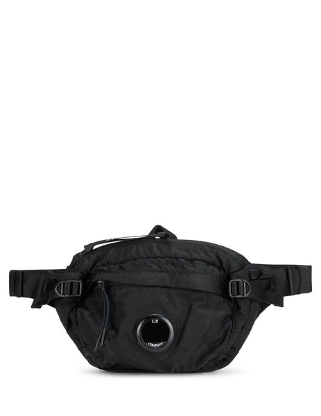 C.P. Company Men's Black Garment Dyed Sateen Belt Bag AC037A005269G999