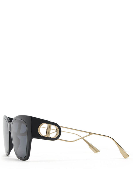 Dior Women's Black/Gold 30Montaigne1 Sunglasses 30MONTAIGNE1
