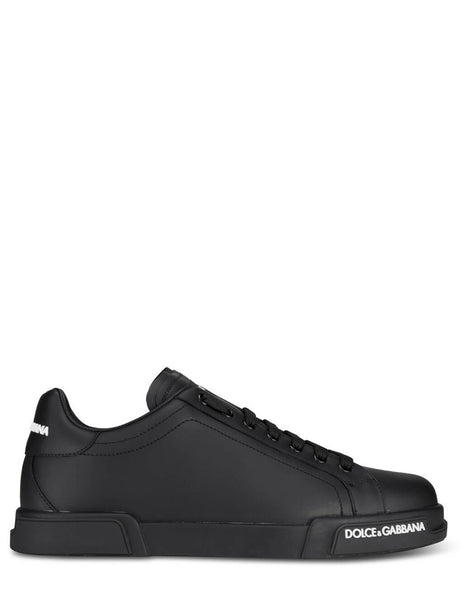 Men's Black Dolce&Gabbana Portofino Sneakers CS1774AA3358B956