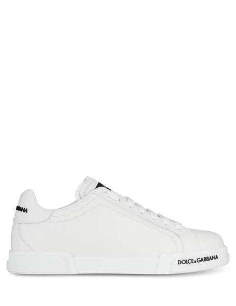 Men's White Dolce&Gabbana Portofino Sneakers CS1774AA33580001