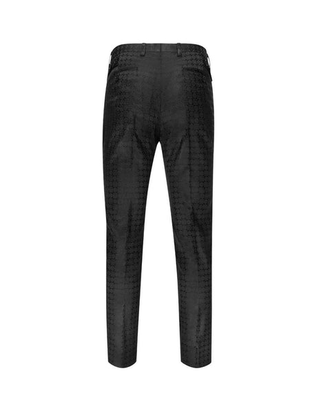 Dolce&Gabbana Men's Giulio Fashion Black Jacquard Silk Trousers GY6IETFJ1GJS8350