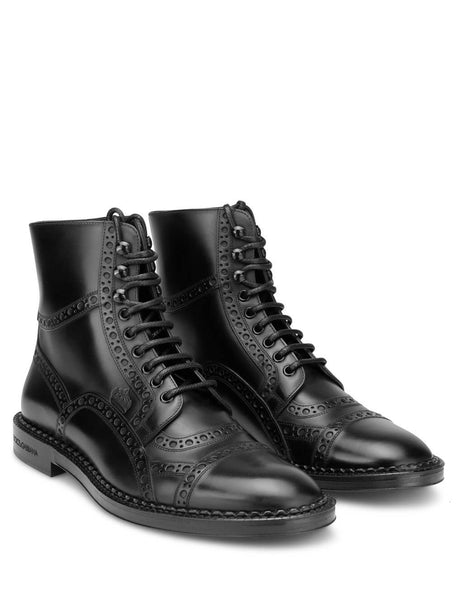 Dolce&Gabbana Men's Black Marsala Ankle Boots A60230Aa38580999