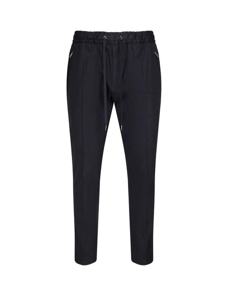 Dolce&Gabbana Men's Giulio Fashion Black Stretch Joggers With Plate GYACETFUFISN0000
