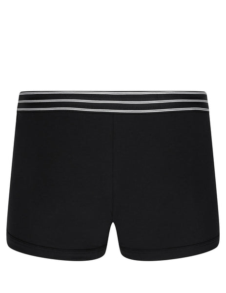 Dolce&Gabbana Men's Black Stretch Pima Cotton Regular Boxer Shorts m4b36jfugian0000