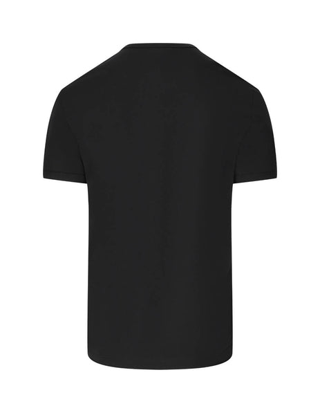 Dolce&Gabbana Men's Black Stretch Pima Cotton Round Neck Underwear T-Shirt m8b82jfugian0000