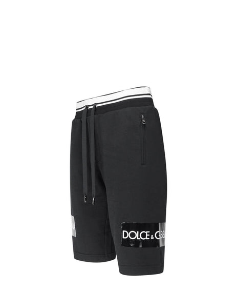 Dolce&Gabbana Men's Black Cotton Bermuda Shorts GYPHATG7SLZN0000