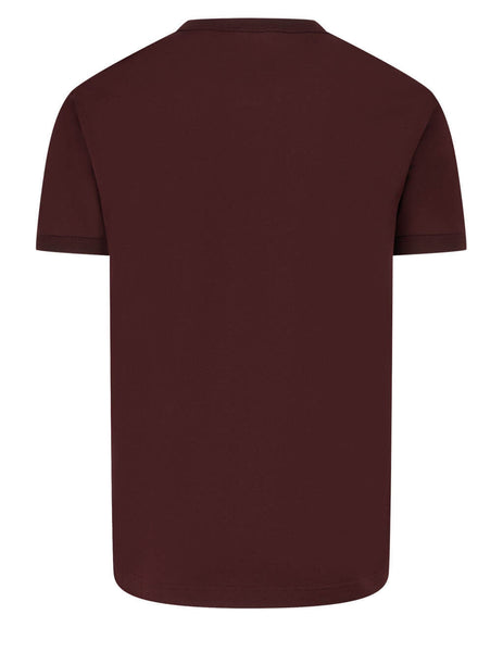 Men's Dolce&Gabbana Cotton Jersey T-Shirt in Burgundy - G8JX7TFU7EQM5039