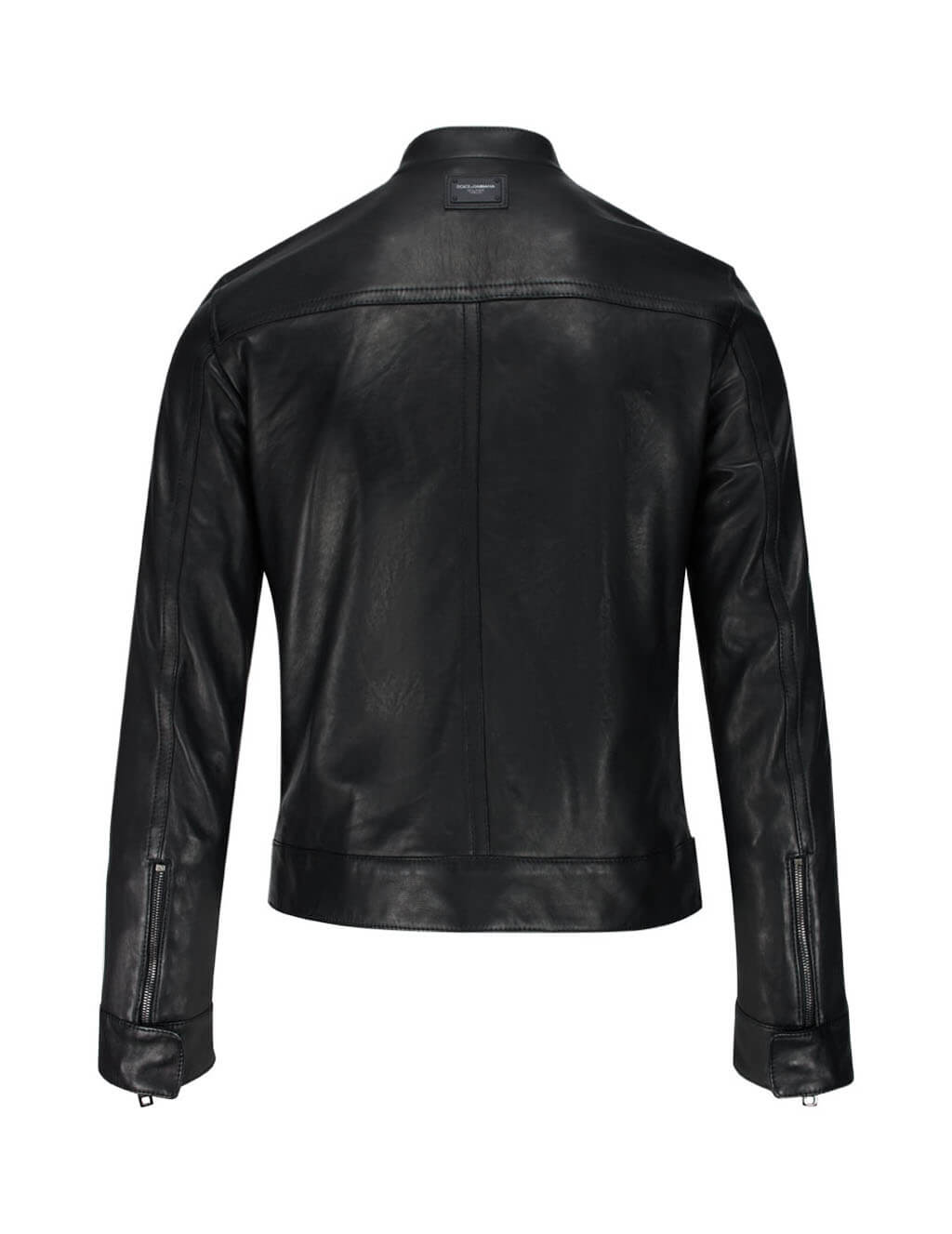 Dolce&Gabbana Men's Giulio Fashion Black DNA Leather Jacket G9RE4LHULF9N0000