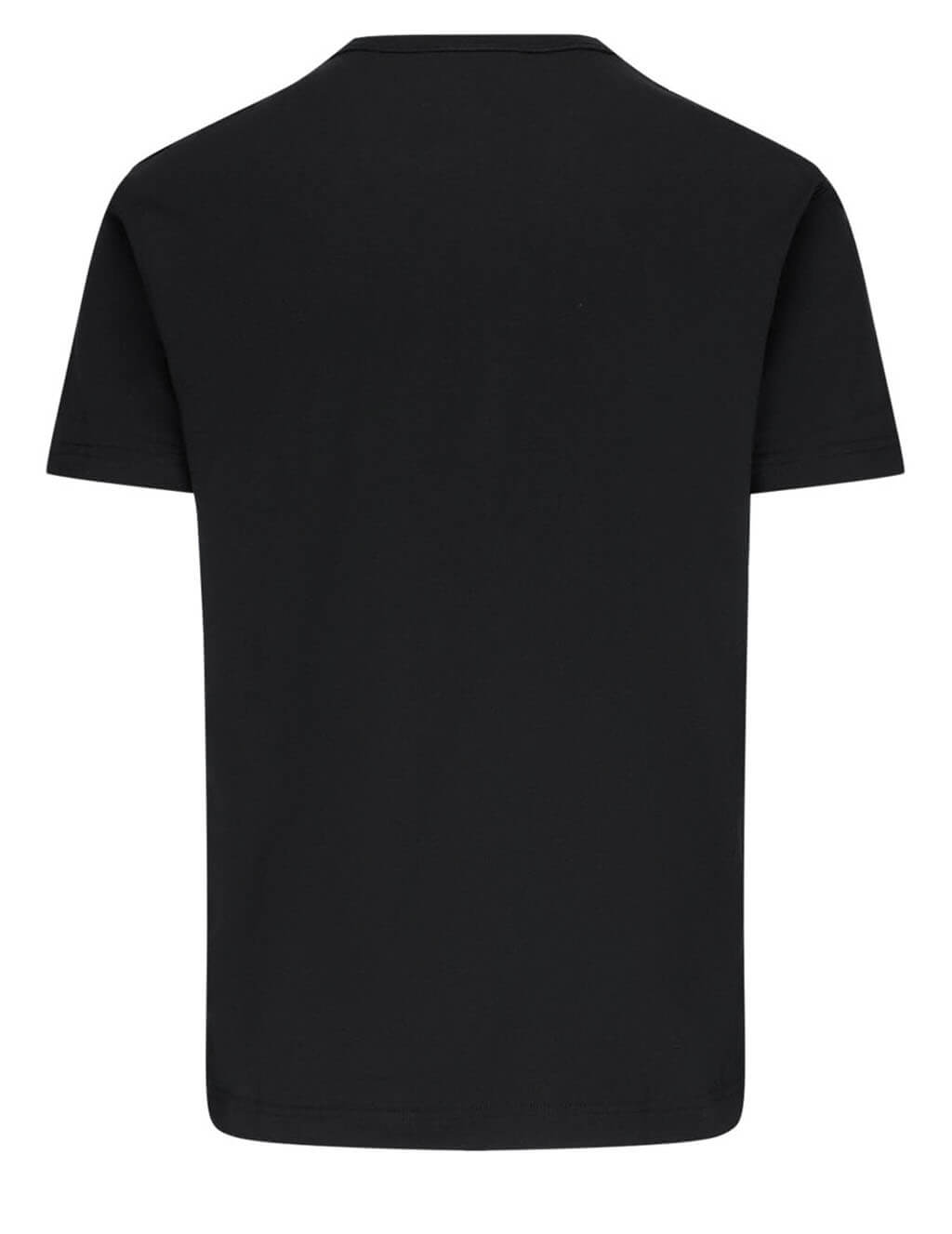 Men's Dolce&Gabbana Logo Plaque Cotton T-Shirt in Black - G8KJ9TFU7EQN0000