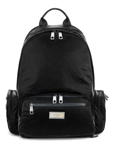 Men's Dolce&Gabbana Plaque DNA Backpack in Black - BM1961AO24380999