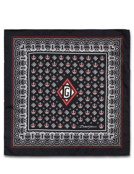 Dolce&Gabbana Men's Giulio Fashion Black Pocket Handkerchief GR412EG0T17HN71C