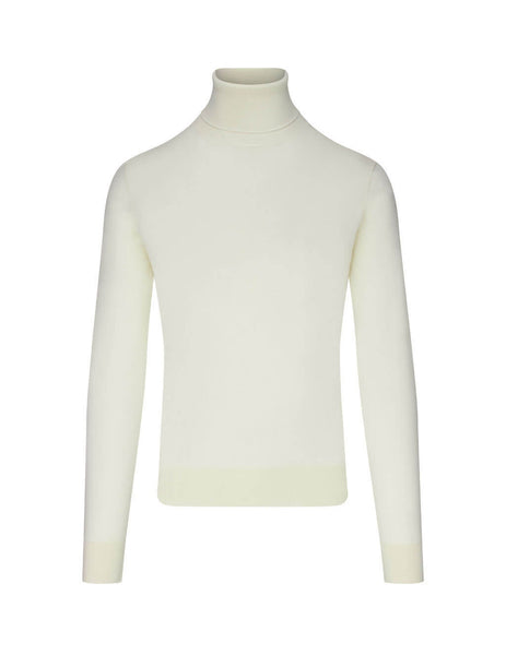 Dolce&Gabbana Men's Giulio Fashion Natural White Roll Neck Jumper GXB00TJAW2OW0001