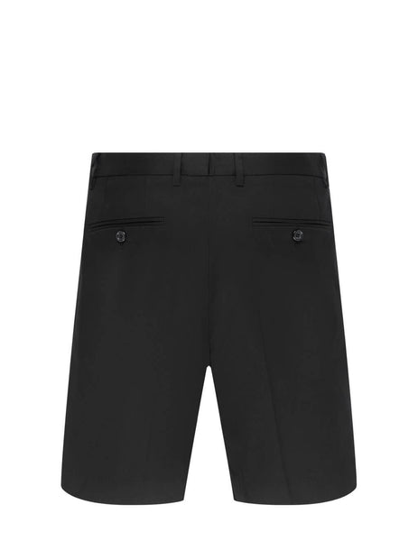 Men's Dolce&Gabbana Straight Leg Shorts in Black - GW0MATFUFJRN0000