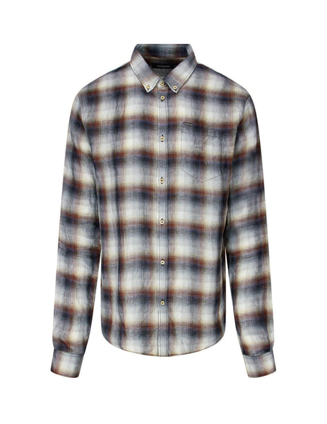 Dsquared2 Men's Grey Check Sharpei Shirt  S71DM0434S48648001F