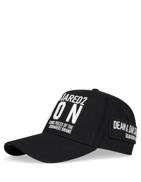 Dsquared2 Men's Giulio Fashion Black Baseball Cap BCM029005C00001M063