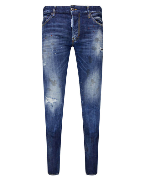 Men's Dsquared2 Bros Patch Jeans in Blue - S74LB0871S30342470