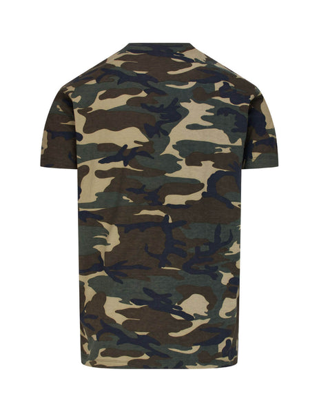 Dsquared2 Men's Giulio Fashion Green Camouflage T-Shirt  S79GC0009S23723962