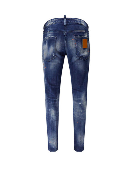 Dsquared2 Men's Giulio Fashion Blue Canadian Painted Jeans S74LB0755S30342470