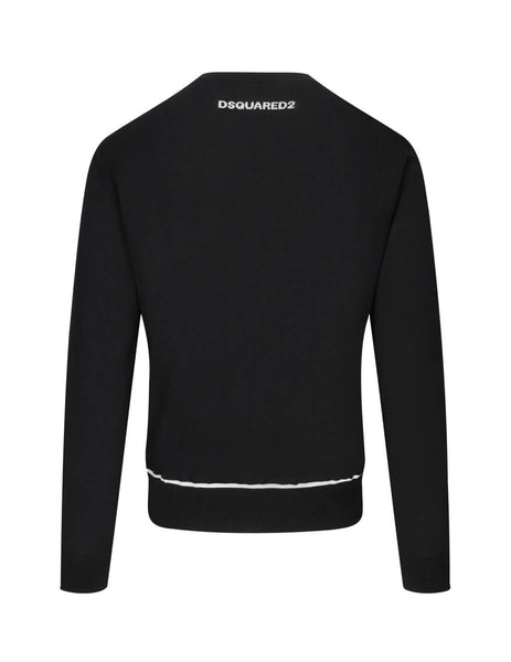 Dsquared2 Men's Giulio Fashion Black Contrast Trim Jumper S74HA1102S17404963