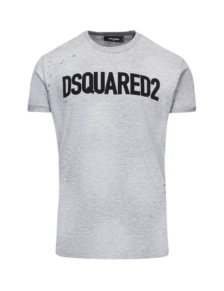 Dsquared2 Men's Giulio Fashion Grey Distressed T-Shirt S74GD0586S22146857M