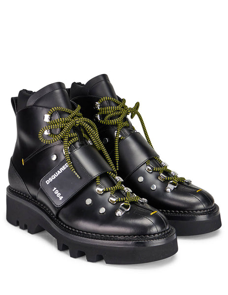 Dsquared2 Men's Giulio Fashion Black Hector Boots ABM0040249000012124