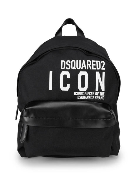 Dsquared2 Men's Giulio Fashion Black Icon Backpack BPM001911702649M063
