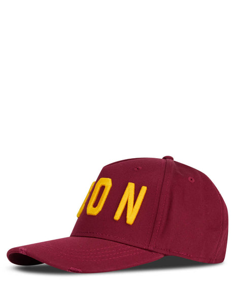 Dsquared2 Men's Giulio Fashion Bordeaux Icon Baseball Cap BCM400105C00001M1498