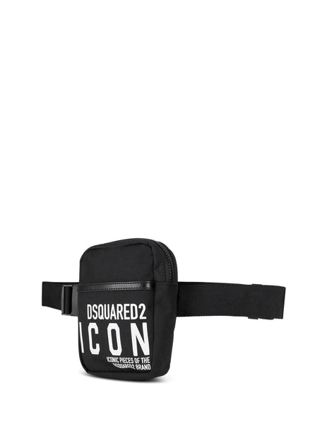 Dsquared2 Men's Giulio Fashion Black Icon Belt Bag BBM001911702649M063